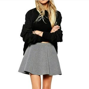 Banana Republic Gray Flounce Skirt